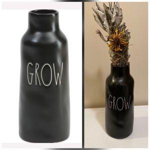 """Rae Dunn GROW Vase 9"""" NWT"""